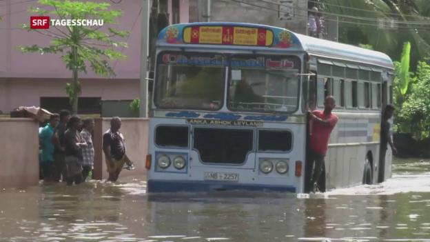 Video «Überschwemmungen in Sri Lanka» abspielen