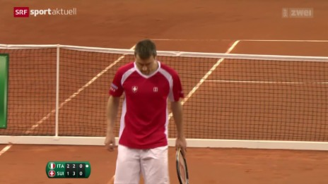 Video «Schweiz im Davis Cup in Rücklage» abspielen