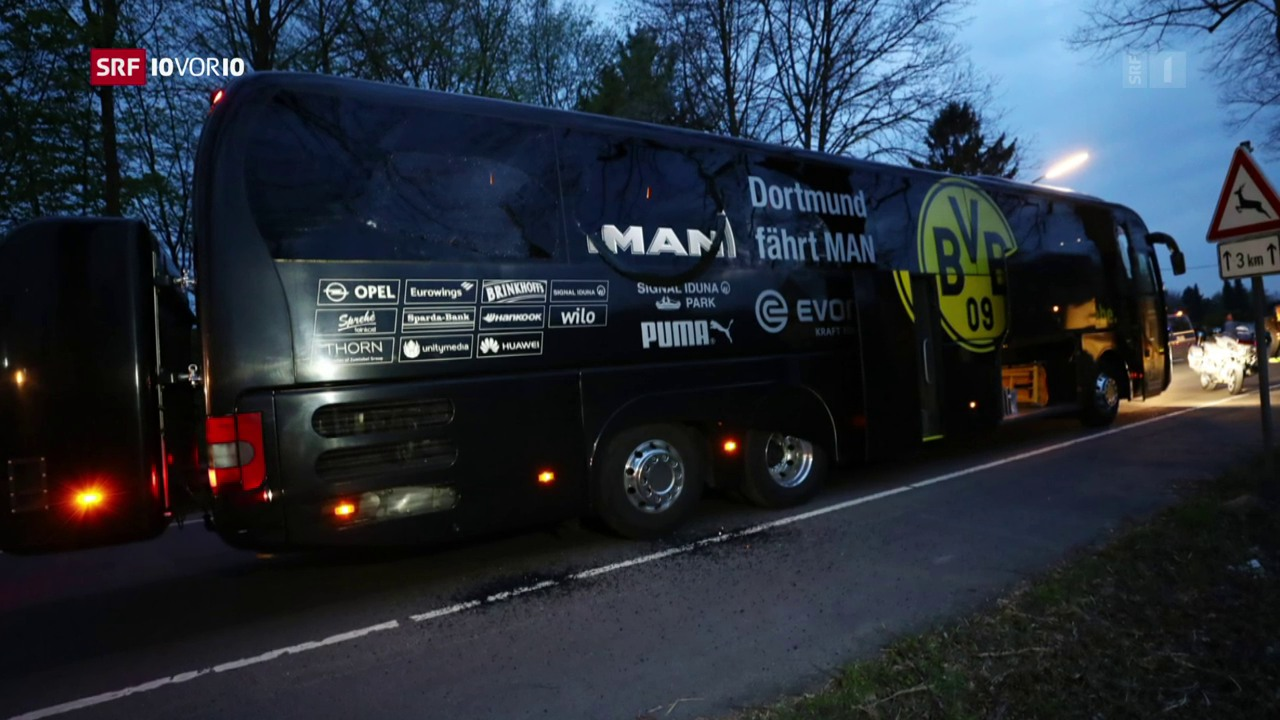 BVB-Bus von Explosionen getroffen
