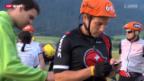 Video «Gigathlon: Teambulding der Curling-Cracks von Adelboden und Davos» abspielen