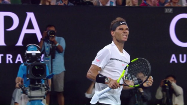 Video «Tennis at its best: Der Ballwechsel im 4. Satz» abspielen