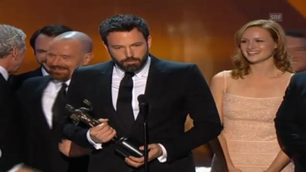Video «Ben Affleck gewinnt in der Kategeorie «bestes Schauspielerensemble» bei den Screen Actors Guild Awards» abspielen