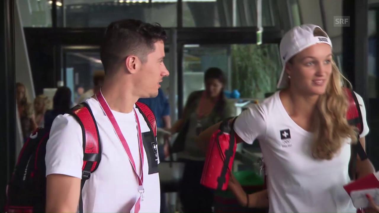 Abflug der Schweizer Delegation nach Rio