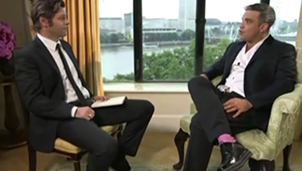 Haarige Sache: Urs Gredig im Gespräch mit Robbie Williams