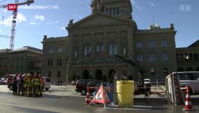 Video «Chemie-Alarm auf dem Bundesplatz » abspielen