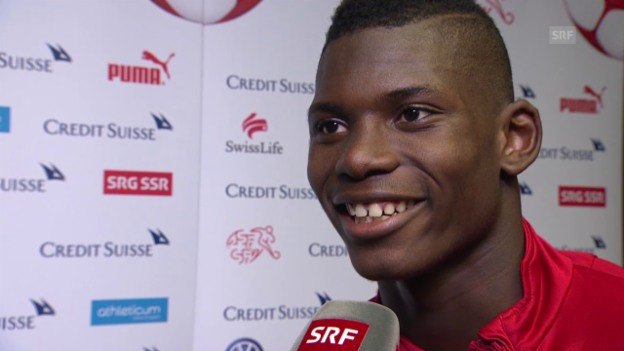 Video «Fussball: Freundschaftsspiel, Schweiz - USA, Interview Breel Embolo» abspielen