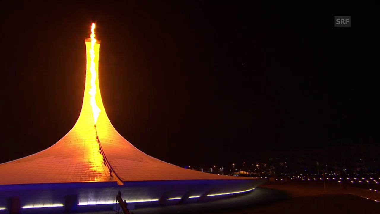 Sotschi: Eröffnungsfeier, Flamme wird entzündet («Sotschi direkt», 07.02.14)