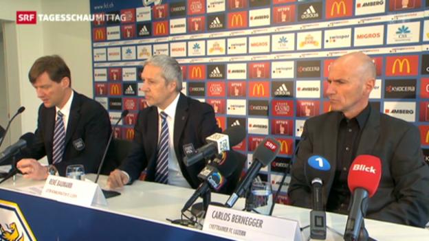 Video «FC Luzern holt Basler Nachwuchstrainer» abspielen