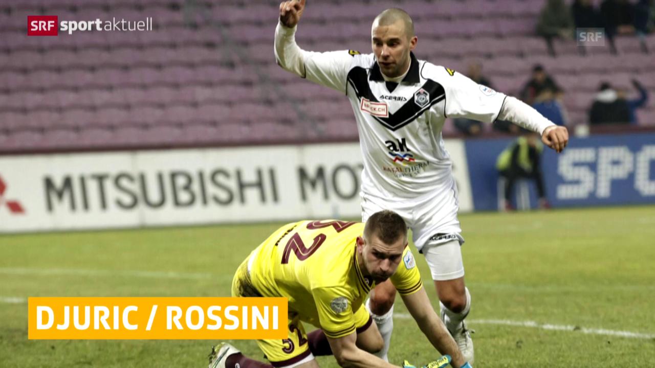 Fussball: Rossini und Djuric gesperrt («sportaktuell»)
