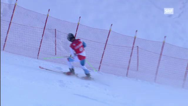 Ski alpin: 2. Lauf von Manuel Pleisch in Alta Badia