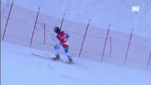 Video «Ski alpin: 2. Lauf von Manuel Pleisch in Alta Badia» abspielen