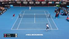 Link öffnet eine Lightbox. Video Live-Highlights Federer - Evans abspielen