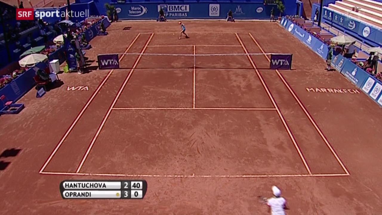 Tennis: Marrakesch-Halbfinal Oprandi - Hantuchova