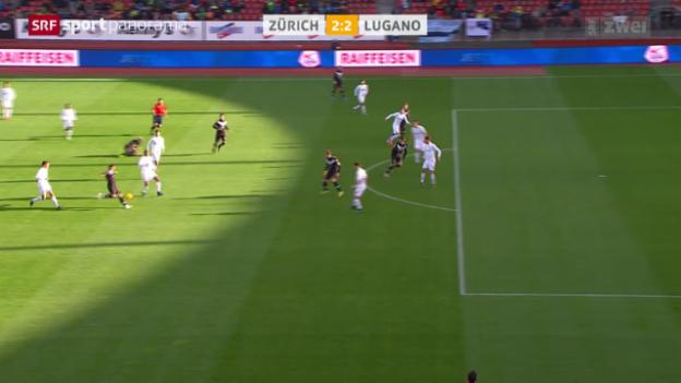 Video «Fussball: Urbanos Tor gegen Zürich» abspielen