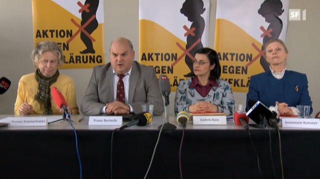 Pressekonferenz «Aktion gegen Aufklärung»