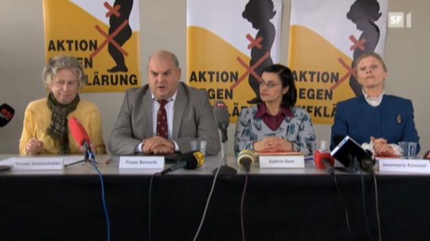 Video «Pressekonferenz «Aktion gegen Aufklärung»» abspielen