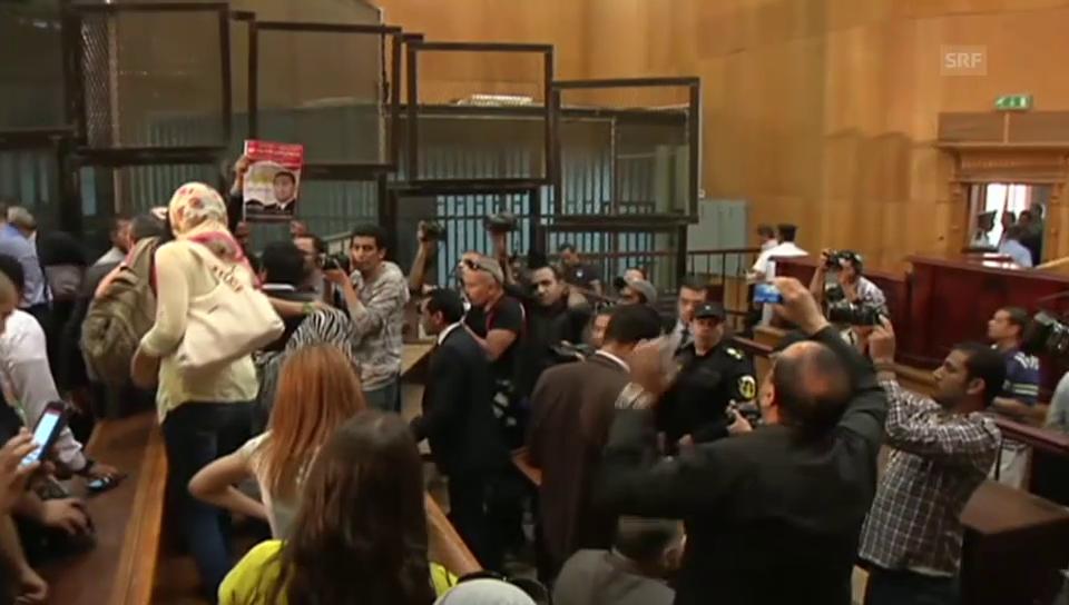 Tumulte nach der Verlesung des Mubarak-Urteils (ohne Kommentar)