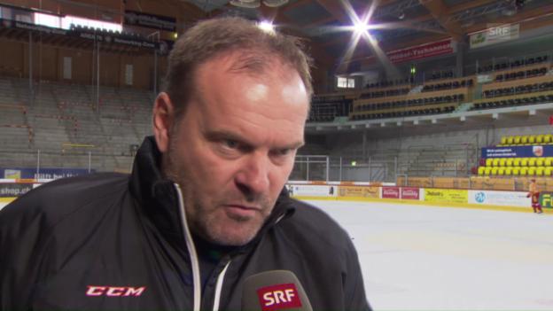 Video «Ehlers spricht über die «riesige Herausforderung» in Langnau» abspielen