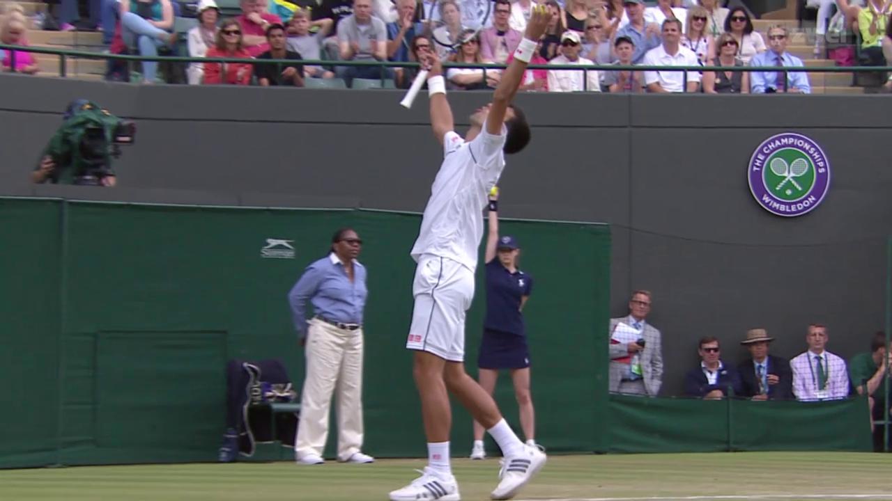 Tennis: Wimbledon, Achtelfinal Djokovic - Anderson