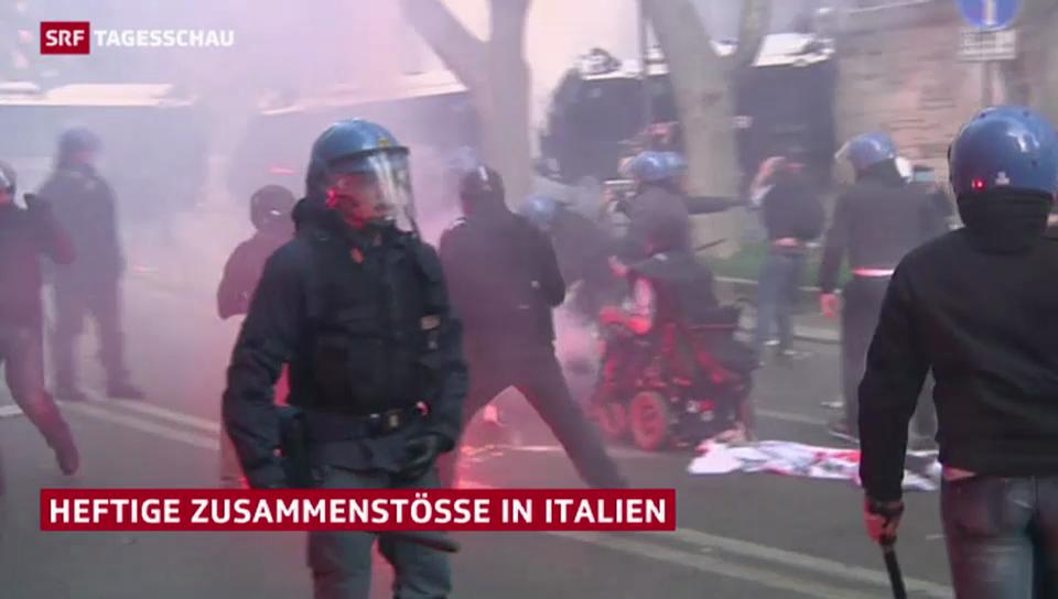 Schwere Krawalle in Rom