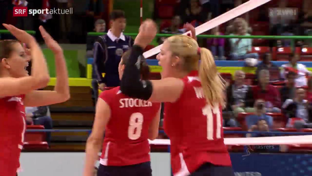 Volleyball: Masters in Montreux, Schweiz - Brasilien