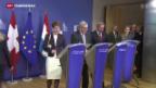 Video «Annäherung zwischen Bern und Brüssel» abspielen