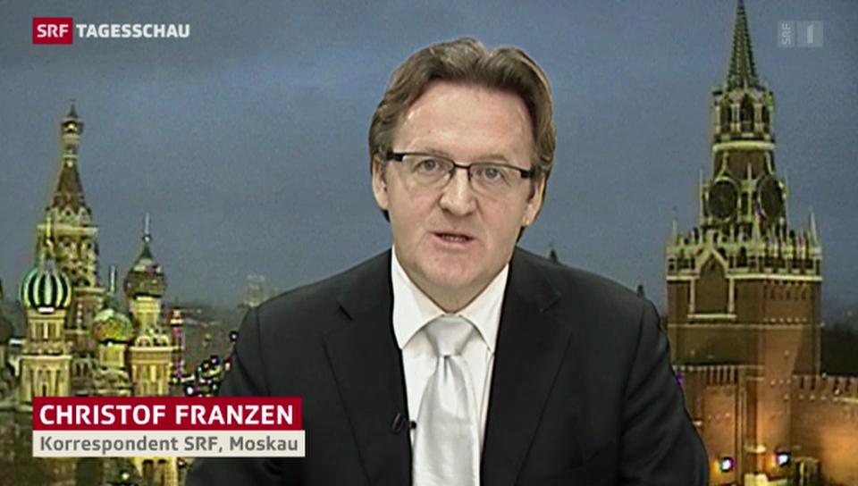 SRF-Korrespondent Christof Franzen zur Freilassung von Chodorkowski