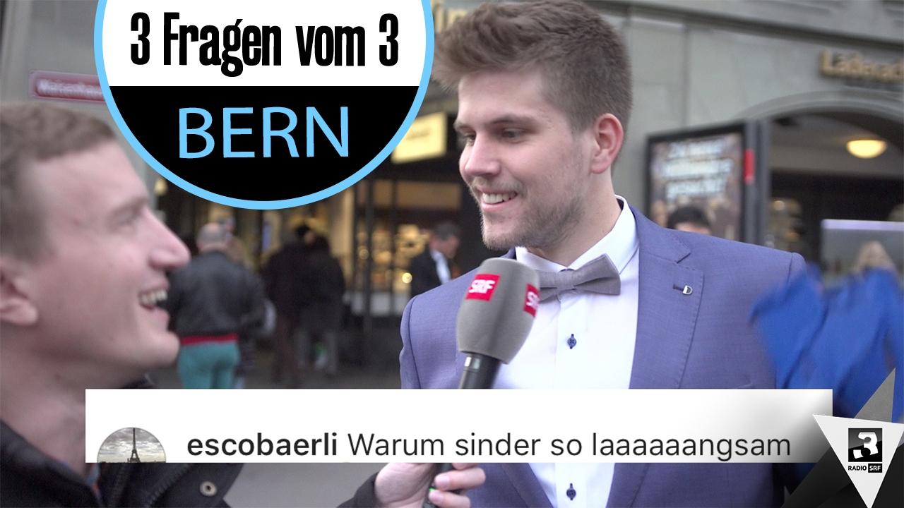 «3 Fragen vom 3» - Stefan Büsser sucht in Bern nach Antworten