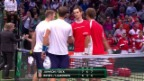 Video «Live-Highlights: Die entscheidenden Szenen im Doppel» abspielen