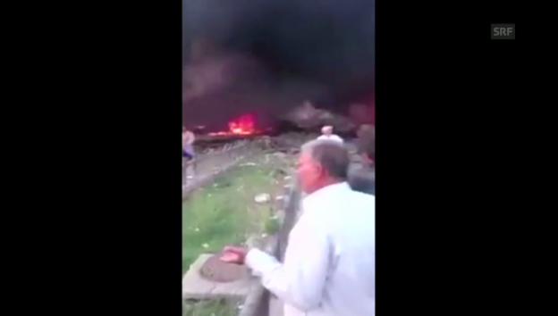 Video «Video eines Augenzeugen (unkommentiert)» abspielen