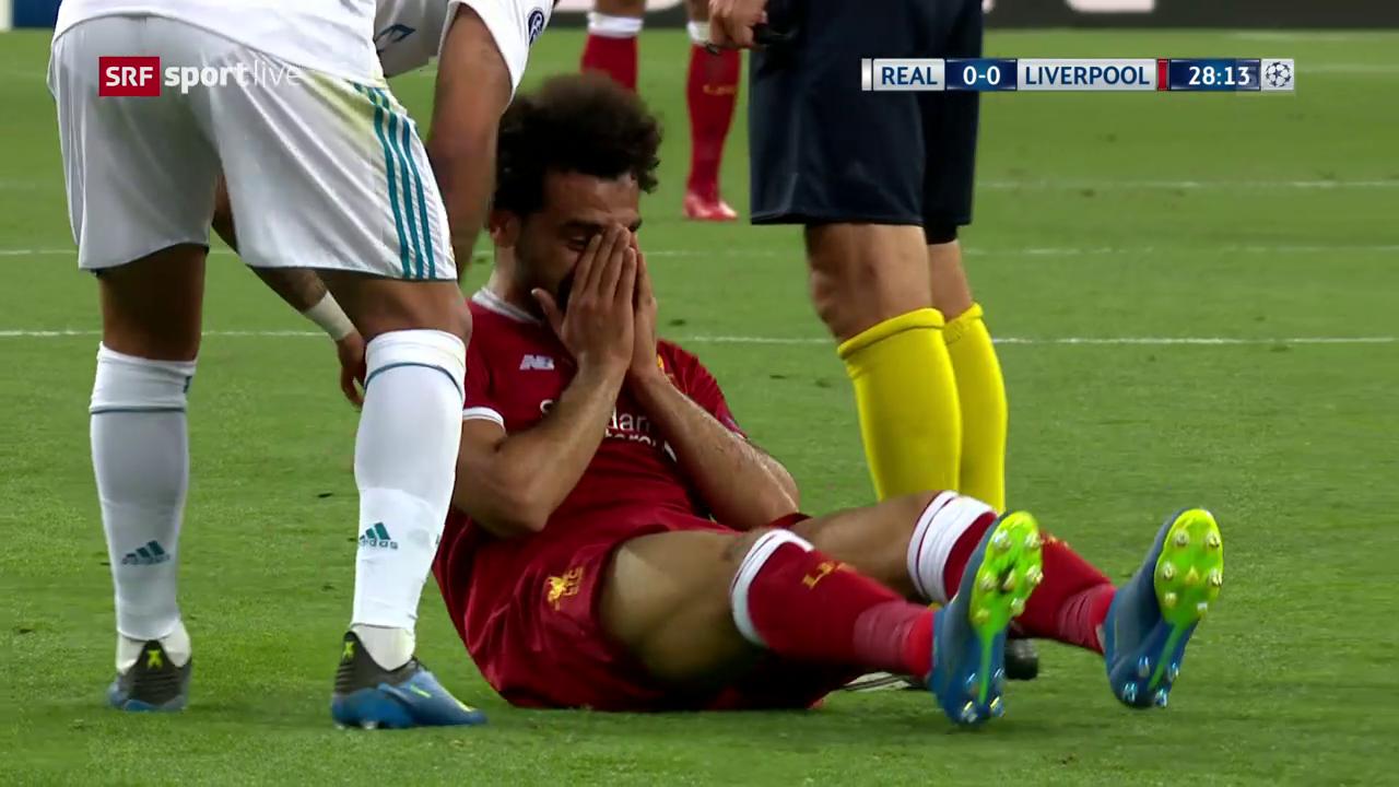 Bitter: Salah muss verletzt raus