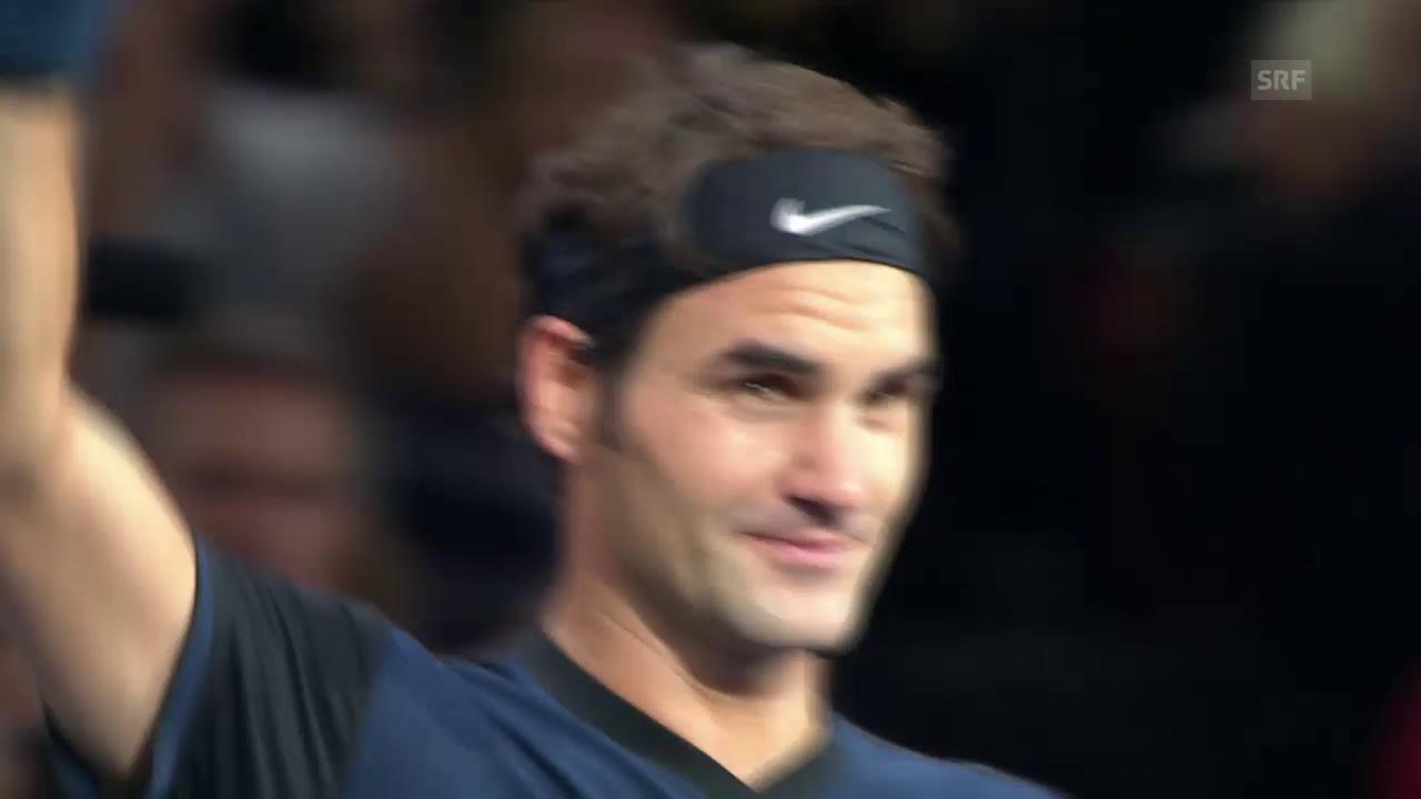Tennis: ATP-1000-Turnier Paris-Bercy 2015, 2. Runde, Federer - Seppi