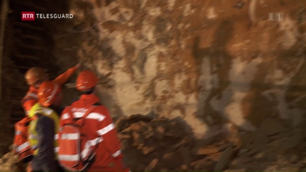 Laschar ir video «Tunnel Alvra: La vetta da crap instabila è surmuntada»