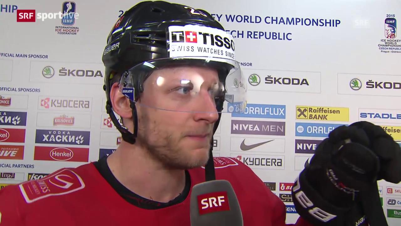 Eishockey: WM 2015, Schweiz - Schweden, Interview mit Simon Bodenmann