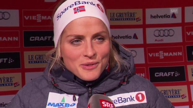 Video «Langlauf: Interview mit Therese Johaug» abspielen