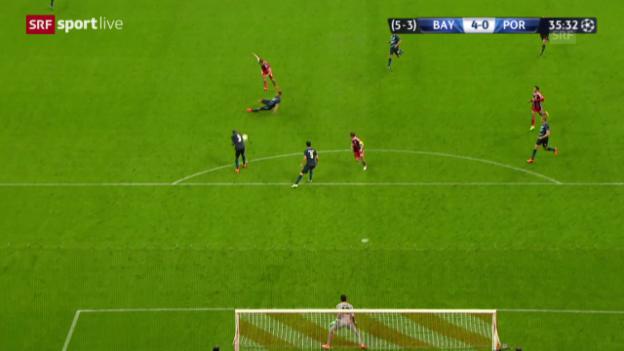 Video «Fussball: Champions League, Viertelfinal Rückspiel, Bayern - Porto, 4:0 Müller» abspielen