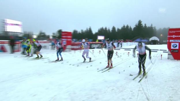 Video «Langlauf: Sprint Oberhof Männer («sportaktuell» vom 29.12.2013)» abspielen