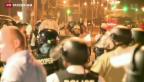 Video «Erneute Ausschreitungen in Ferguson» abspielen