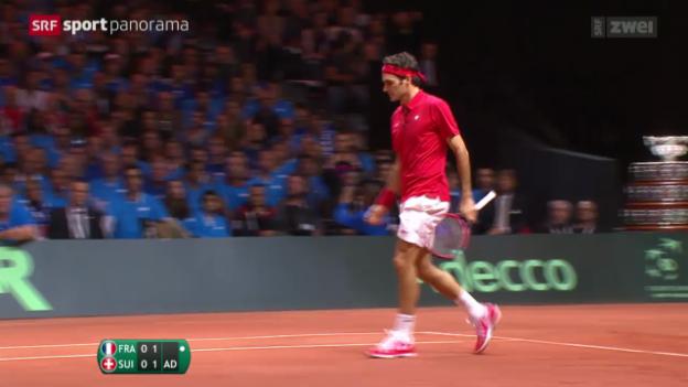 Video «Tennis: Zusammenfassung Roger Federer - Richard Gasquet» abspielen