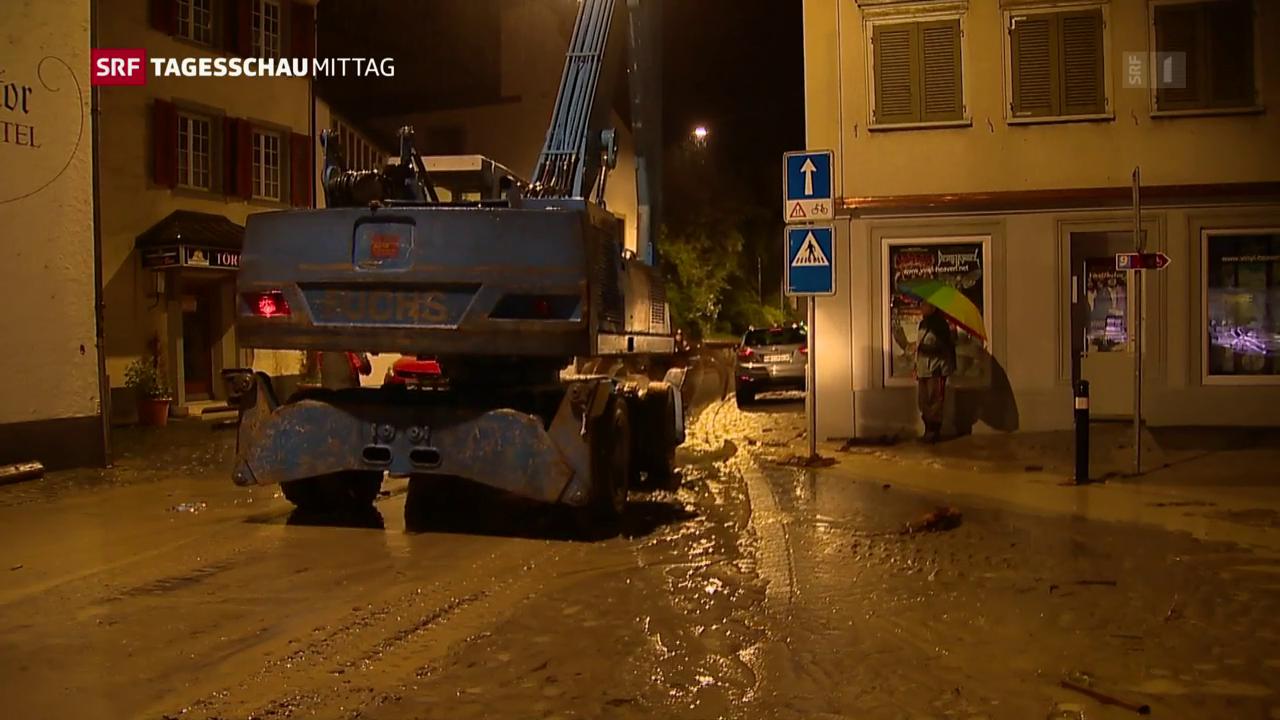Dauerregen in Altstätten (SG)