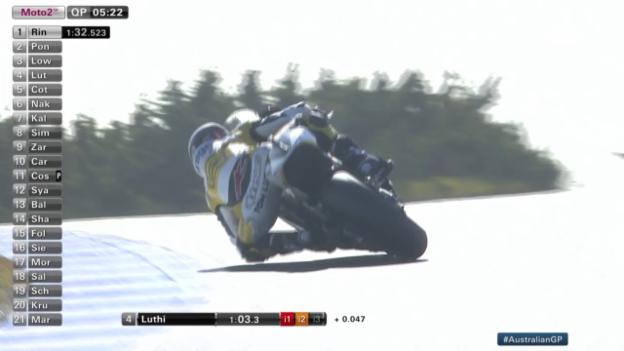 Video «Motorrad: Moto 2, GP Australien, Qualifying, Lüthis schnellste Runde» abspielen