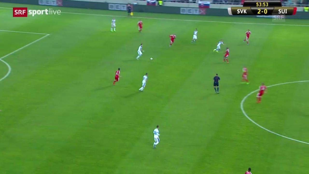 Fussball: Länderspiel, Slowakei - Schweiz: Tor Mak 3:0