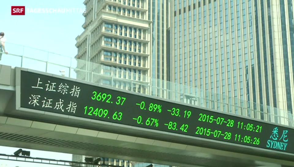 Verluste an Chinas Börsen treffen Kleinanleger
