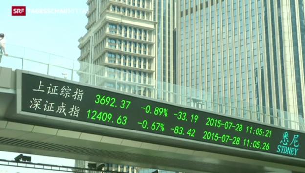 Video «Verluste an Chinas Börsen treffen Kleinanleger» abspielen