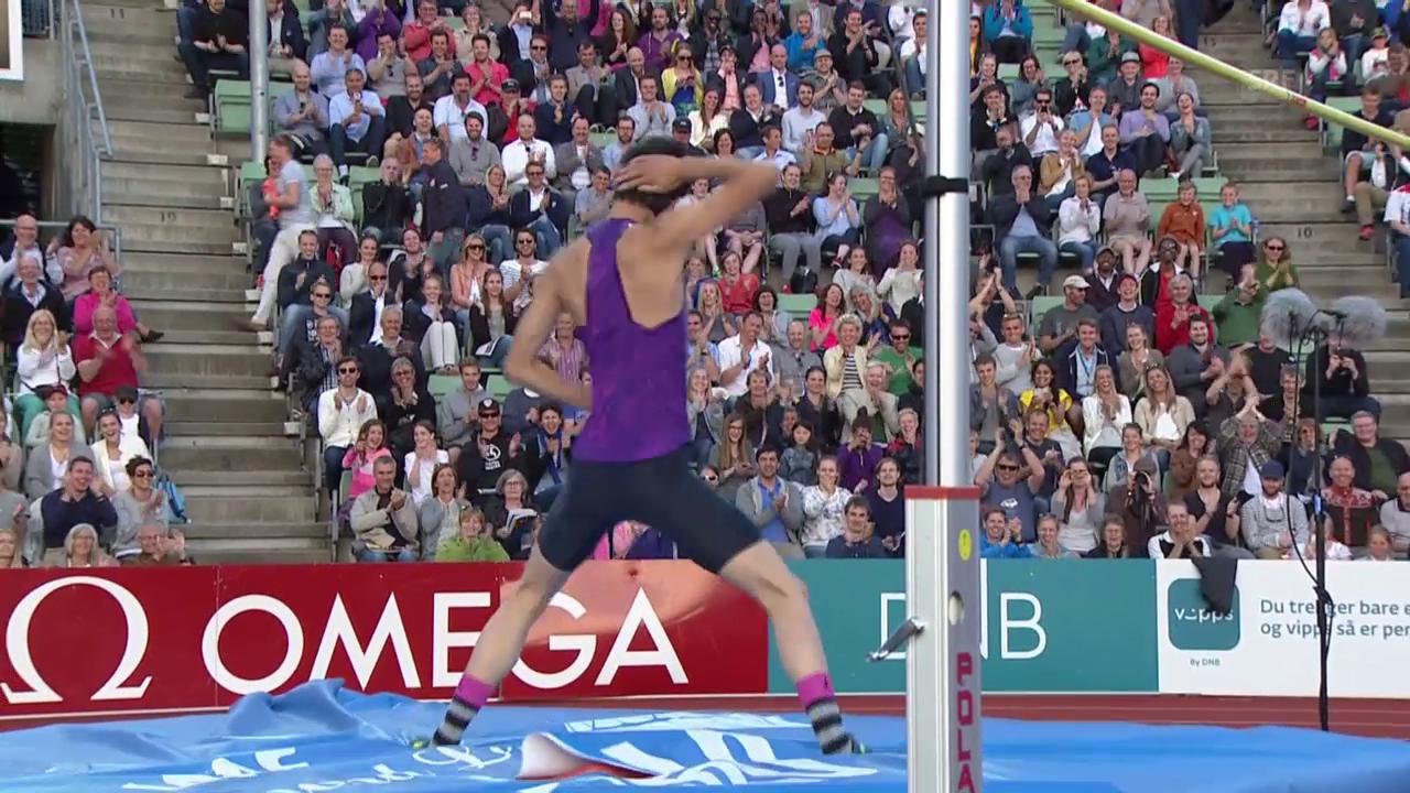 Leichtathletik: Diamond-League-Meeting Oslo, Siegessprung von Zhang Guowei