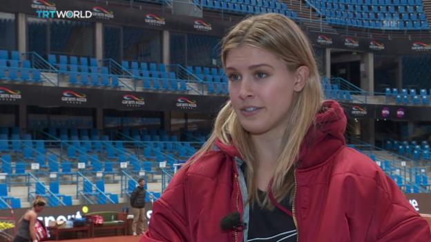 Video «Bouchard kritisiert Scharapowa und WTA scharf (Quelle: SNTV)» abspielen
