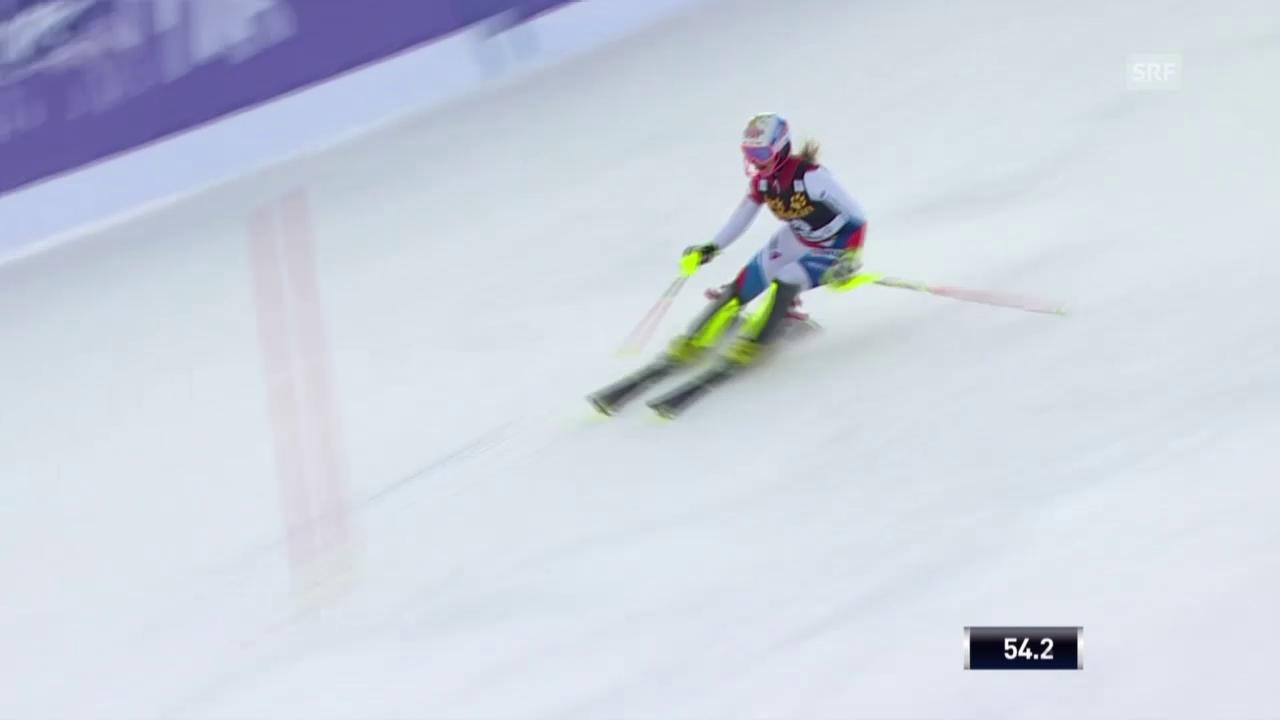 Ski Alpin: Charlotte Chable im 2. Lauf