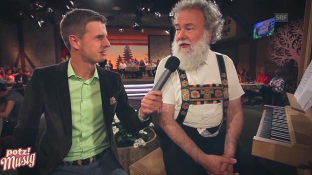 Video ««Potzmusig» hinter den Kulissen: Wolfgang Sieber» abspielen