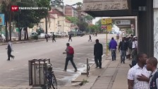 Video «Unübersichtliche Lage in Harare» abspielen