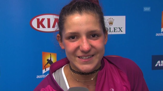 Video «Interview mit Shooting-Star Rebeka Masarova» abspielen